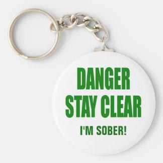 DANGER STAY CLEAR! By: Nightmare7darkangel Basic Round Button Keychain