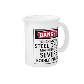 Danger Steel Drum Beverage Pitchers