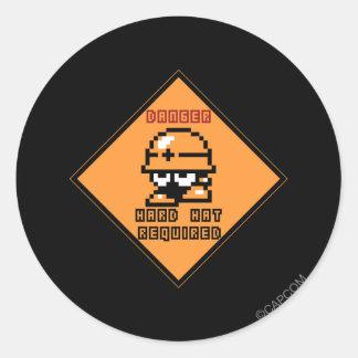 Danger Round Sticker