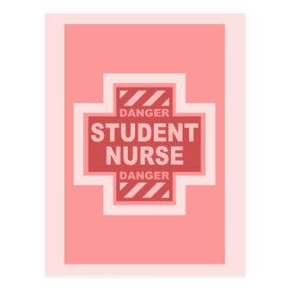 Danger Student Nurse! -pink Postcard