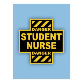 Danger Student Nurse Postcard