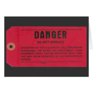 Danger Tag Cards