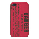 Danger Tag Cover For iPhone 4