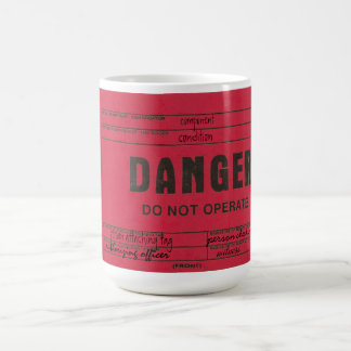 Danger Tag Customizable Coffee Mugs
