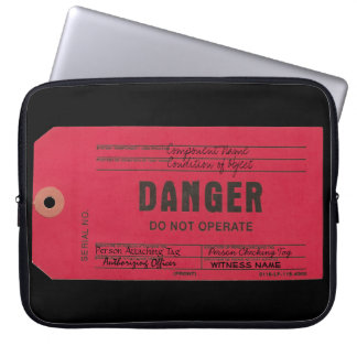 Danger Tag Customizable Laptop Case Computer Sleeves
