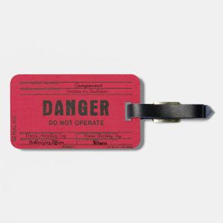 Danger Tag Customizable Luggage Tag