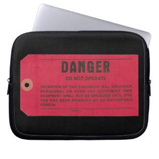 Danger Tag Laptop Case Computer Sleeve