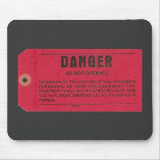 Danger Tag Mouse Pad