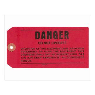 Danger Tag Postcard