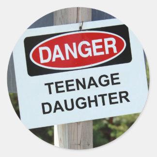 Danger Teenage Daughter Sign Sticker