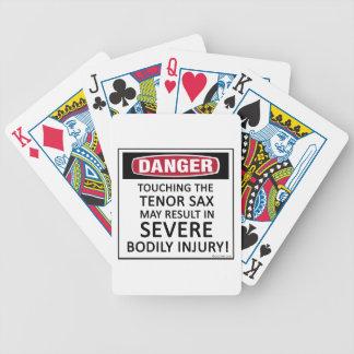 Danger Tenor Sax Card Deck