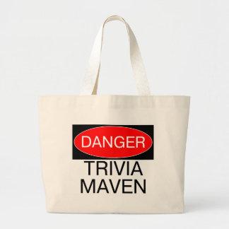 Danger - Trivia Maven Funny Trivia Night T-Shirt Tote Bag