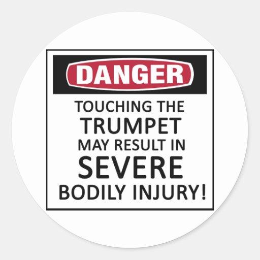 Danger Trumpet Classic Round Sticker