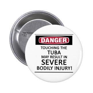 Danger Tuba Pinback Button