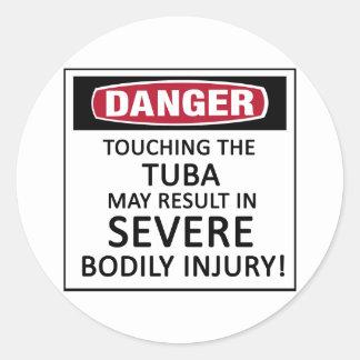 Danger Tuba Classic Round Sticker
