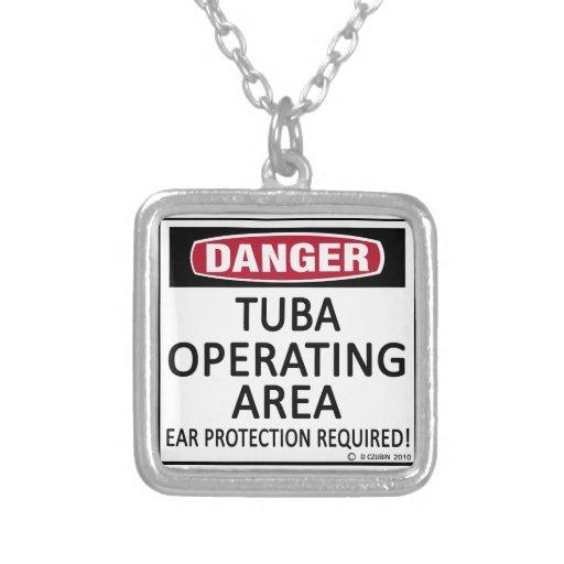 Danger, Tuba Operating Area Custom Jewelry