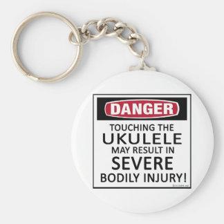 Danger Ukulele Basic Round Button Keychain