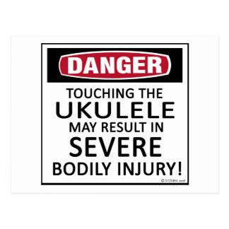 Danger Ukulele Postcard