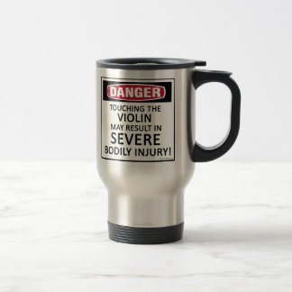 Danger Violin 15 Oz Stainless Steel Travel Mug