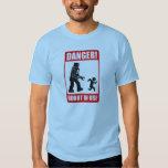 danger warning robot in use t shirt
