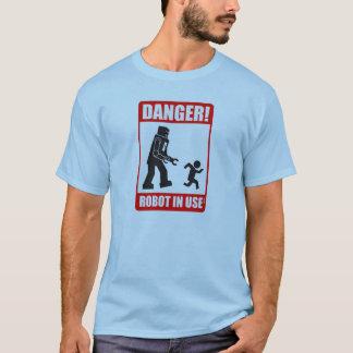 danger warning robot in use T-Shirt