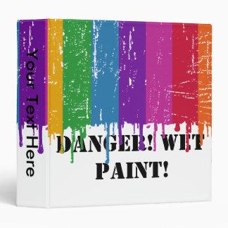 Danger Wet Paint 3 Ring Binder