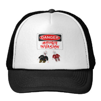 DANGER ZOMBIE INVASION by Zombie Ghetto Hats