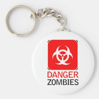 Danger Zombies Basic Round Button Keychain