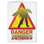 Danger Zombies! Greeting Cards