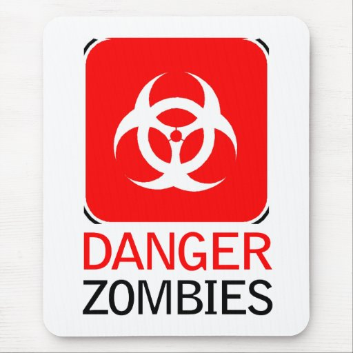 Danger Zombies Mouse Pad