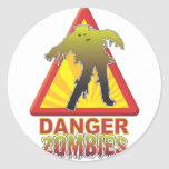 Danger Zombies! Round Stickers