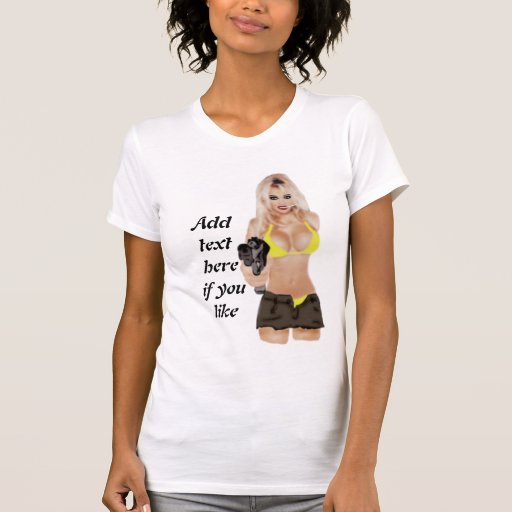 Dangerous Blonde Femme Fatale Apparel Shirt