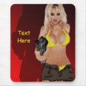 Dangerous Blonde - Femme Fatale Maousepad mousepad