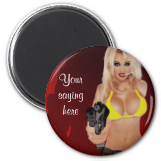 Dangerous Blonde - Shadow Femme Fatale Magnet