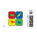 Dangerous Creatures Pop Art Postage Stamp