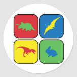 Dangerous Creatures Pop Art Round Stickers