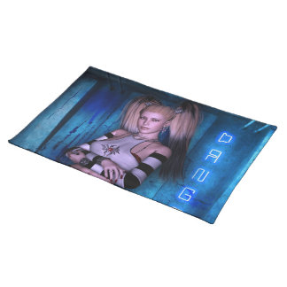 Dangerous Curves Gothic Girls™ Fantasy Pinup Placemat