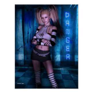 Dangerous Curves Gothic Girls™ Fantasy Pinup Poster