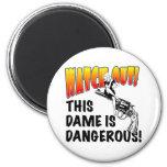 Dangerous Dame Fridge Magnets