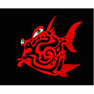 """""""Dangerous Dan"""" Fish Watercolor Mike Quinn Statuette"""