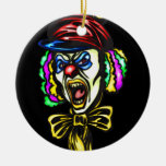 Dangerous Evil Clown Double-Sided Ceramic Round Christmas Ornament