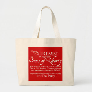 Dangerous Extremist: 18th Century Style Poster Canvas Bags