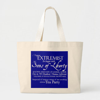 Dangerous Extremist: 18th Century Style Poster Tote Bag