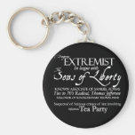 Dangerous Extremist: 18th Century Style Poster Key Chains