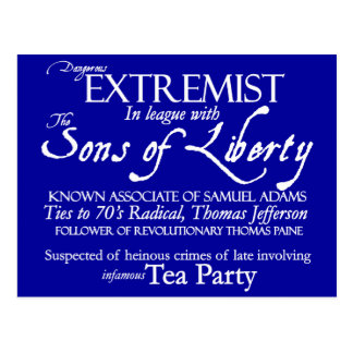 Dangerous Extremist: 18th Century Style Poster Postcard