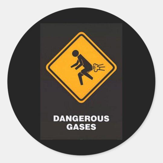 Dangerous Gases Classic Round Sticker