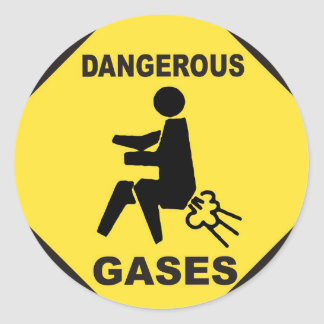 Dangerous Gases Classic Round Sticker
