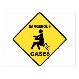 Dangerous Gases Postcard