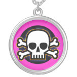 Dangerous Girl Round Pendant Necklace