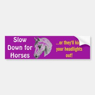 dangerous horses bumper sticker